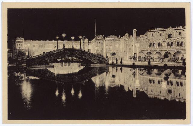 003341 - Venezia bij avond op de Internationale Tentoonstelling Stad Tilburg 1934.