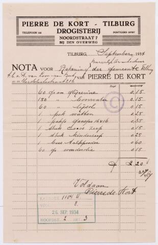 060517 - Briefhoofd. Nota van Pierre de Kort-Tilburg, drogisterij, Noordstraat 7, voor de gemeente Tilburg