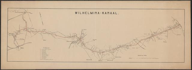 652535 - Kaart van het Wilhelminakanaal tussen Oosterhout en Beek en Donk.