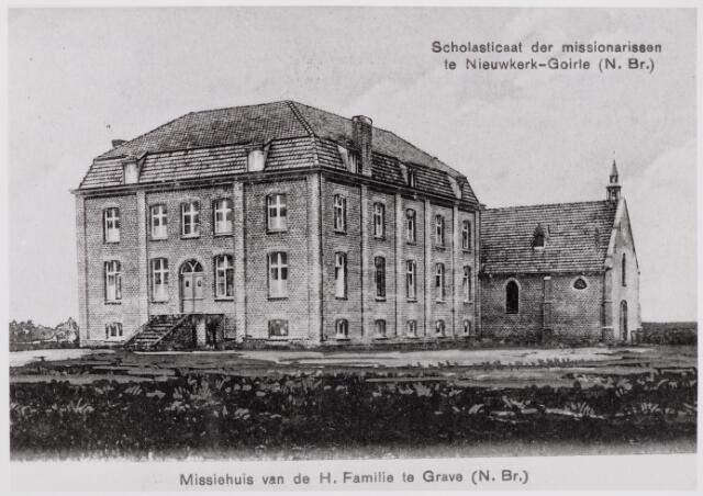 046513 - Het scholaticaat van de paters van de H. Familie op Nieuwkerk. Het klooster en de kapel werden op 1 juni 1913 ingewijd door Albert de Meester, benedictijn te Leuven, een broer van de eigenaar van het landgoed Nieuwkerk .