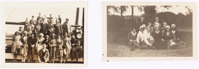 008848 - Processie Tilburg-Kevelaer, foto links genomen aan de Maas, foto rechts Handel 1931.