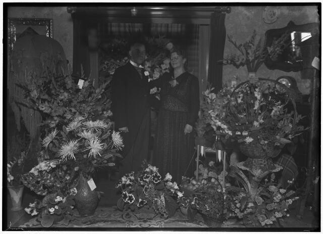 050878 - Zilveren bruiloft van het echtpaar Van Oss- Jansen.