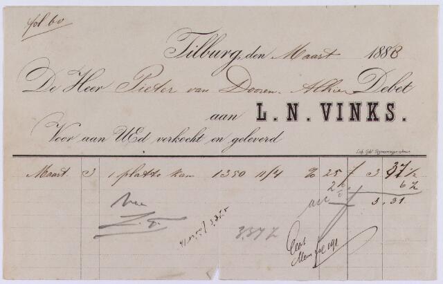 061348 - Briefhoofd. Nota van L.N.Vinks voor  Pieter van Dooren te Tilburg