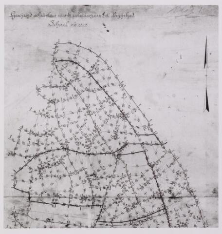 042254 - Riolering. Schetsplan van het rioolstelsel in het stroomgebied van de Leij