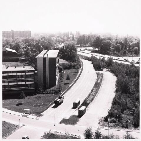 036502 - Panorama van Tilburg vanaf de bejaardenflat 't Laar.