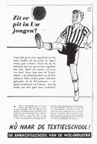 052162 - Onderwijs. Textielschool. Advertentie in het Nieuwsblad.