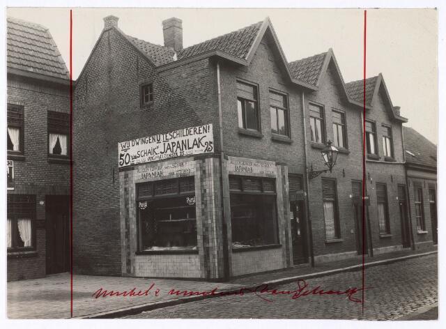 018115 - Verfwinkel in de Elzenstraat aan het begin van de twintigste eeuw