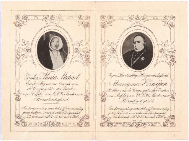 009384 - Kloosters. Jubileumuitgave t.g.v. het 75 jarig bestaan van de congregatie van de Zusters van Liefde.