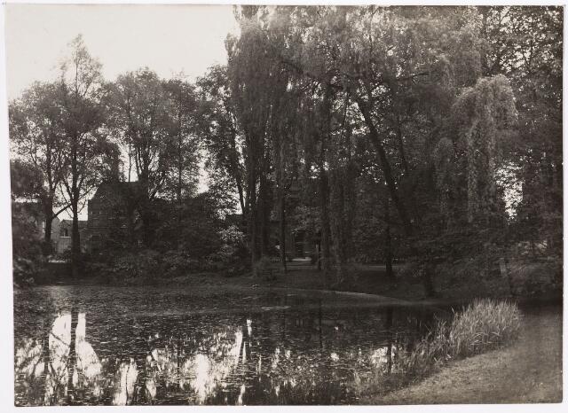 035122 - zicht op de vijver in het Wilhelminapark in 1927