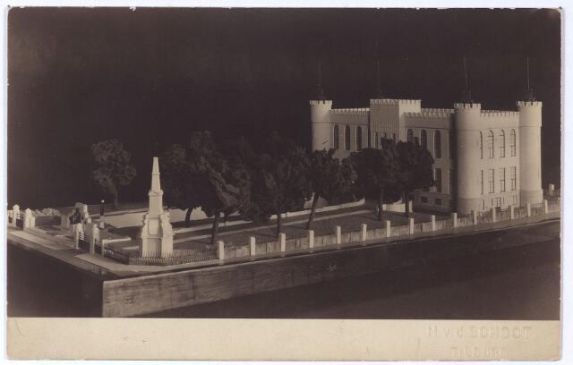 002415 - Maquette van het paleis-raadhuis, west en zuidzijde.