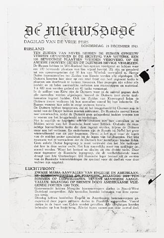 013662 - WOII; WO2; Tweede Wereldoorlog. Verzet. Utrechtse uitgave van 'De Nieuwsbode', die ook een Tilburgse editie kende