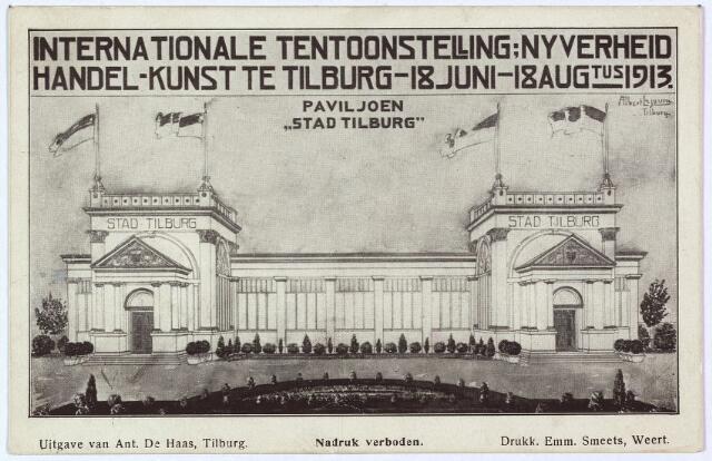 003307 - Paviljoen Stad Tilburg op de Internationale Tentoonstelling van Nijverheid, Handel en Kunst.