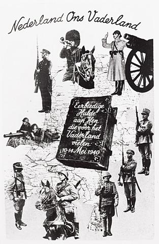 013432 - Tweede Wereldoorlog. Oorlogslachtoffers. Pamflet ter ere aan gesneuvelde Nederlanders tussen 10 en 14 mei 1940