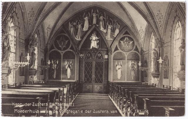 001789 - Oude Dijk, het koor van de zusters in de postulantenkapel van het moederhuis van de congregatie van de Zusters van Liefde van O.L.V. Moeder van Barmhartigheid