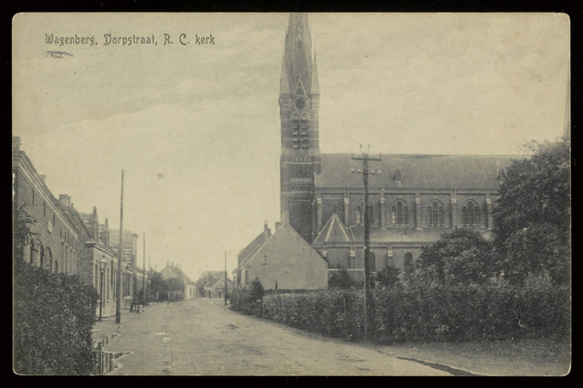 91830 - De Rooms Katholieke Gummaruskerk in Wagenberg. Vergelijk foto 91834.