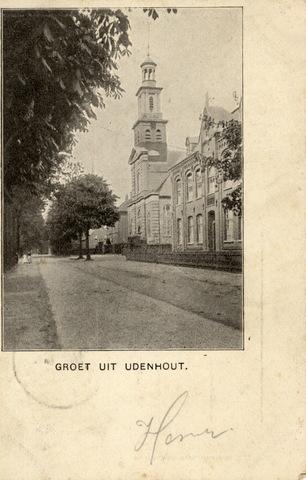 652717 - Udenhout Groet uit Udenhout. Henri Rechts met de toren: het raadhuis Aan: Cor. v.d. Linden, Kaatsheuvel. Postzegel van 2 1/2 cent met stempel Udenhout -- -- 02. Linksboven stempel van Kaatsheuvel -- --02