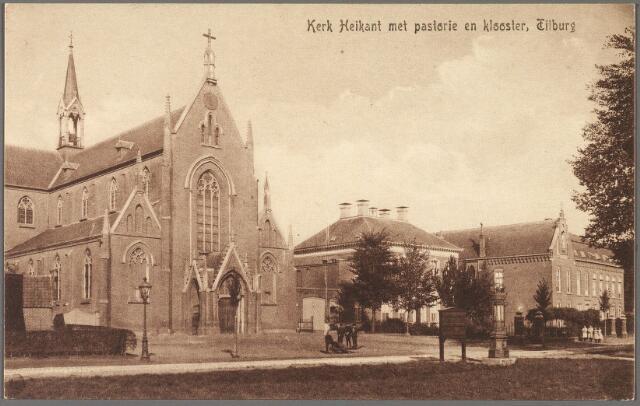 010300 - De Heikant, nu de Schans, met R.K.  parochiekerk O.L.V. onbevlekte ontvangenis (Heikant), pastorie en St. Leonardusgesticht. Het gesticht, genoemd naar de patroonheilige van pastoor L.G. v.d. Steen, werd als bejaardenhuis in gebruik genomen in 1902. De leiding van het tehuis was in handen van de zusters van Liefde van de congregatie van O.L.V. Moeder van Barmhartigheid (Oude Dijk). Op zondag 26 oktober 1952 vierde men het 50-jarig bestaan. 's-Middags werd door de r.k. toneelvereniging O.N.A. het stuk Maria Goretti opgevoerd voor zusters, bejaarden en genodigden. In 1959 trokken de zusters zich terug uit dit tehuis. Ter hoogte van de pastorie een aanplakborg en een stadspomp.