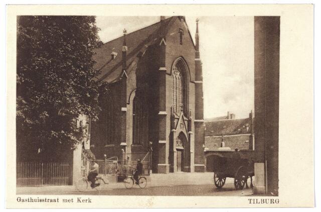 000465 - Gasthuisstraat met kerk H. Vincentius a Paulo.
