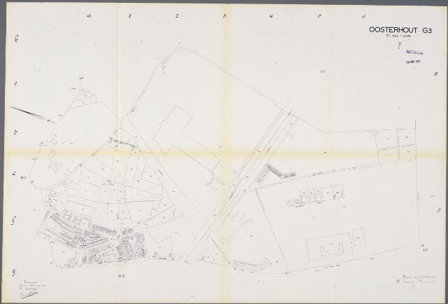 104937 - Kadasterkaart. Kadasterkaart / Netplan Oosterhout. Sectie G3. Schaal 1: 2.500