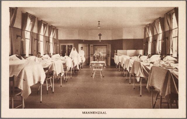 010889 - Elisabethziekenhuis. Gezondheidszorg. Ziekenhuizen. Mannenzaal St. Elisabethziekenhuis aan de Jan van Beverwijckstraat.