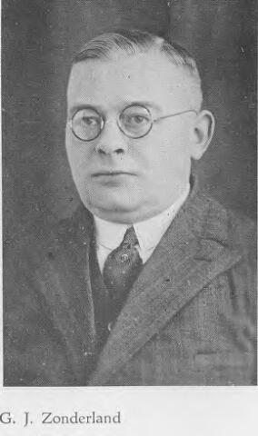 064367 - G.J. Zonderland uit Apeldoorn, reiziger in de noordelijke provincies voor  N.V. Stoomschoenfabriek J.A. Ligtenberg uit Dongen.