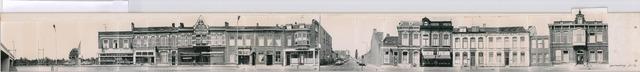 1625_0079 - Fotostrook; straatwand; panden aan de linten en hoofdverbindingswegen in het centrum van de stad; Gasthuisring even nrs; foto's werden tussen 1976 en 1985 gemaakt.