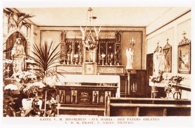 039985 - Interieur kapel pater oblaten van Franciscus van Sales aan het Columbusplein (zie nr. 10823)