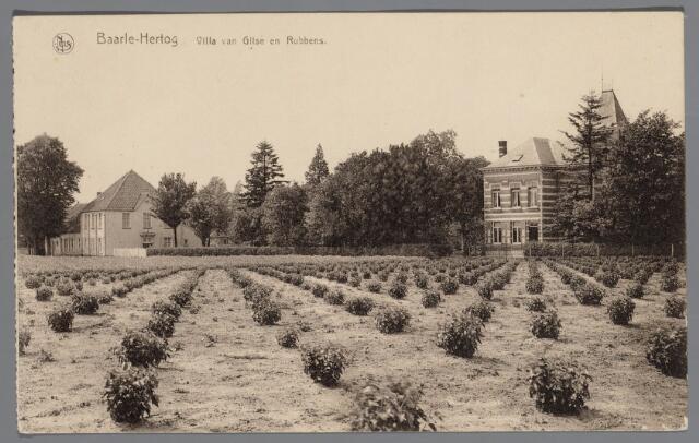 065474 - Villa van Gilse aan de Burgemeester van Gilsestraat met rechts het woonhuis van H.A.J. van Gilse, burgemeester van Hertog (1900-1933) en links het huis van advocaat Rubbens