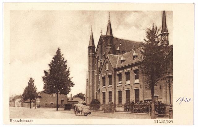 000706 - Hasseltstraat, pastorie en kerk van O.L.V. van de H. Rozenkrans.