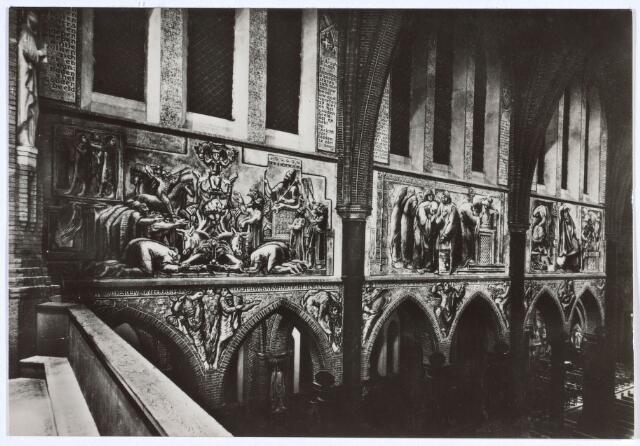020043 - Muurschilderingen van Egbert Dekkers in de kerk van het Heilig Hart, parochie Noordhoek