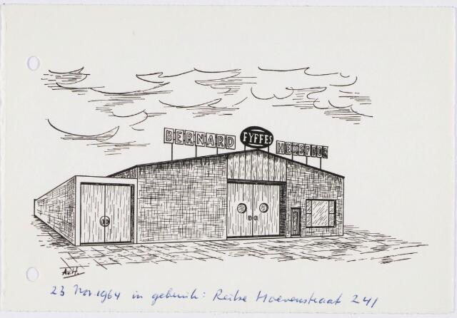 029493 - Tekening. Fruithandel. Bedrijfspand voor het rijpen van bananen van Bernard Hexspoor aan de Reitse Hoevenstraat nr. 241.