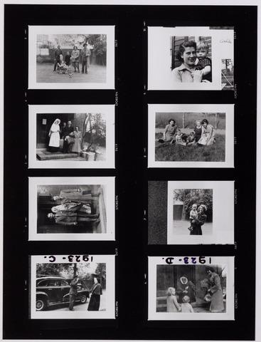 041997 - Ziekten. Pokken. Epidemieën. Impressie van de quarantaine van de Tilburgse bevolking in het Cenakel tijdens de pokkenepidemie in 1951.