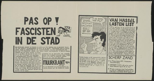 668_1983_124 - Muurkrant: Pas Op! Fascisten in de stad