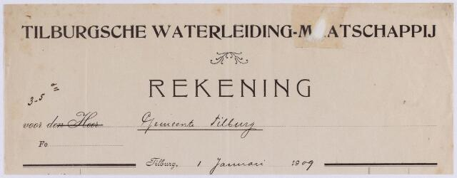 061251 - Briefhoofd. Nota van Tilburgsche Waterleiding-maatschappij voor de gemeente Tilburg