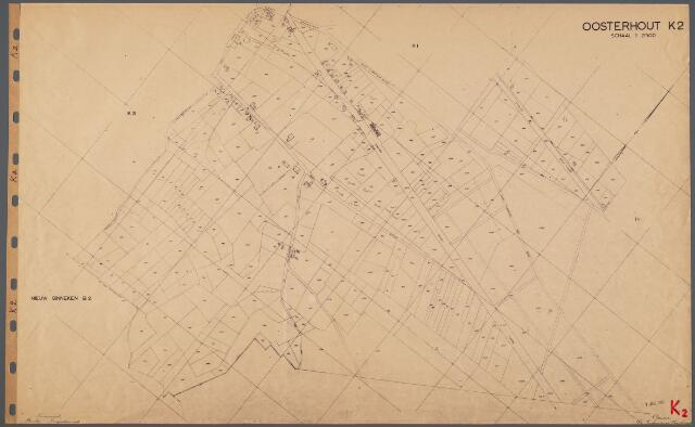 104799 - Kadasterkaart. Kadasterkaart Oosterhout. Sectie K2. Schaal 1: 2.500.