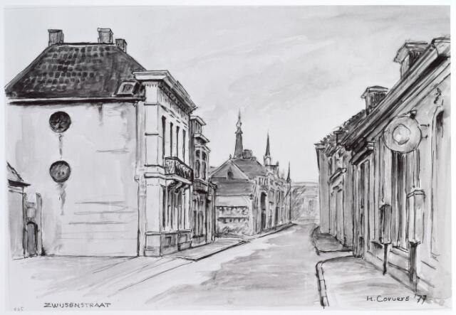 015274 - Tekening. Tekening van de Bisschop Zwijsenstraat van H. Corvers