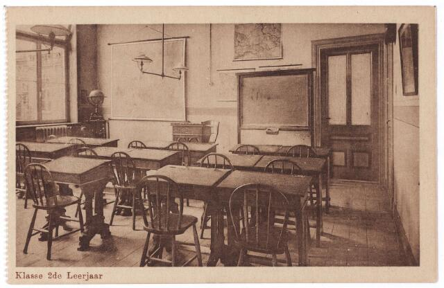 001792 - Onderwijs. Oude Dijk, kweekschool zusters van liefde. klas  tweede leerjaar.