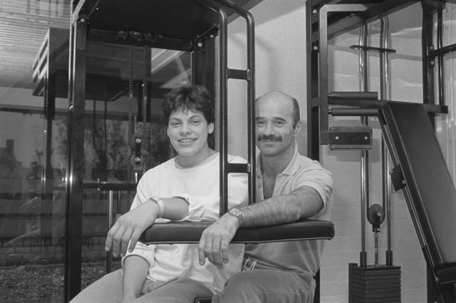 TLB023002469_001 - Topsport. Judo. Jodoka Irene de Kok (Eindhoven 1963), zij werd wereldkampioen in 1986 en 1987. Samen met haar trainer Joop Ooms, die zou worden geschorst.