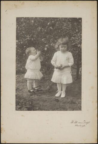 603723 - Kinderen van Johannes J.M. Langermans (Tilburg1885) en Antonia M. A. Thijs (Tilburg 1886-Waalwijk 1935).  In 1911 vertrok het jonggehuwde echtpaar Langermans-Thijs vanuit Tilburg naar Waalwijk. Het beroep van Johannes was op dat moment correspondent.