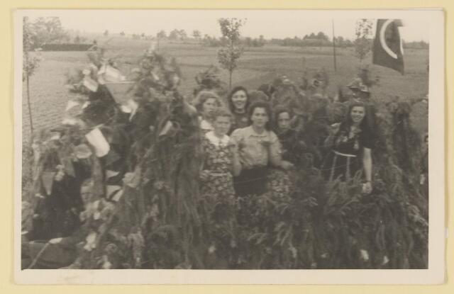 080840 - WOII; WO2; Bevrijding Udenhout 1945. De optocht.