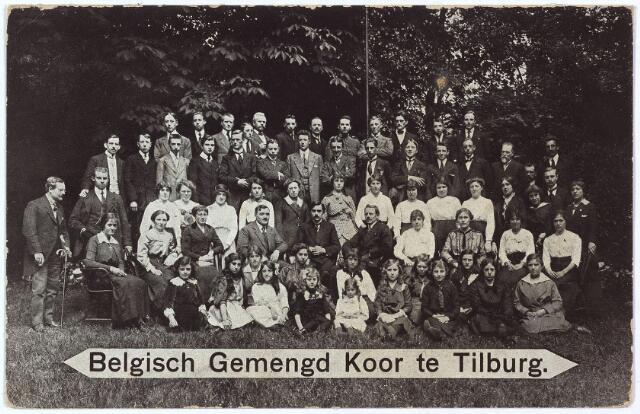 003257 - Het Belgisch Gemengd Koor te Tilburg werd opgericht tijdens de Eerste Wereldoorlog en bestond uit Belgische vluchtelingen. De dirigent van het koor was J. van Laerhoven.