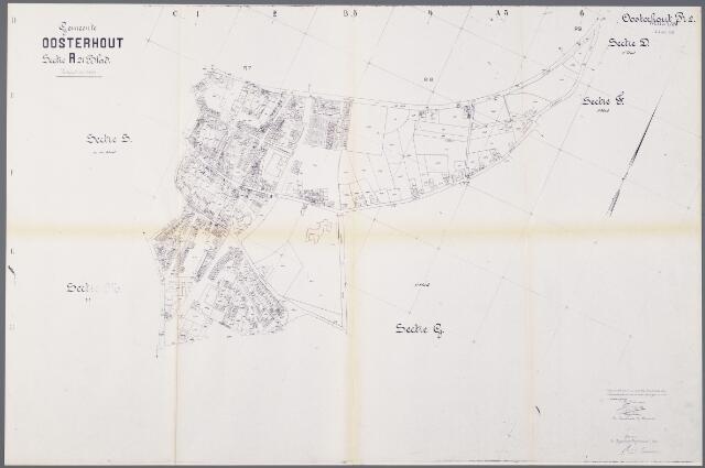 104918 - Kadasterkaart. Kadasterkaart / Netplan Oosterhout. Sectie R2. Schaal 1: 2.500