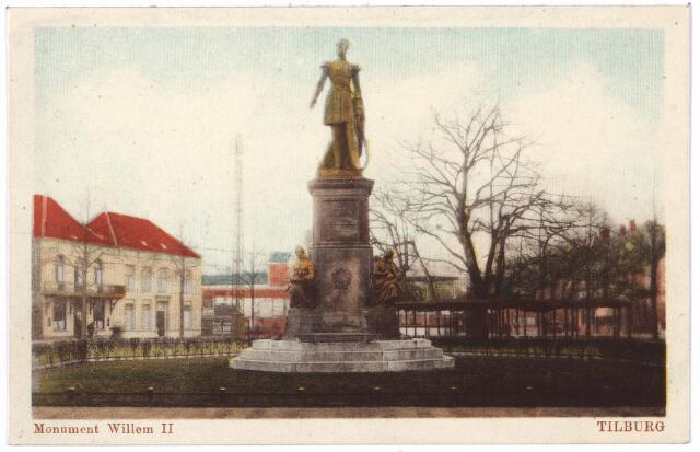 000987 - Standbeeld koning Willem II en lindeboom op de Heuvel.