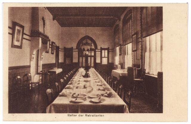001431 - Refter (eetzaal)  van de retraitanten in het retraitehuis en klooster van O.L.V. van het Cenakel aan de Koningshoeven, thans Kempenbaan.