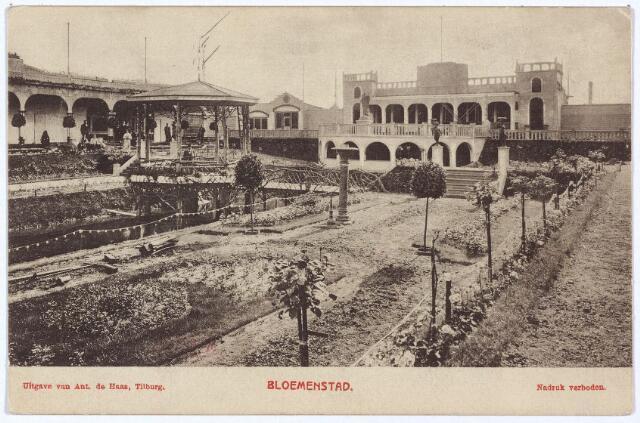 003318 - Overzicht van de ' Bloemenstad' op de Internationale Tentoonstelling van Nijverheid, Handel en Kunst te Tilburg.