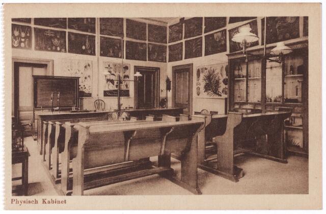 001781 - Onderwijs. Oude Dijk, 'physisch kabinet' van kweekschool van de zusters van liefde..