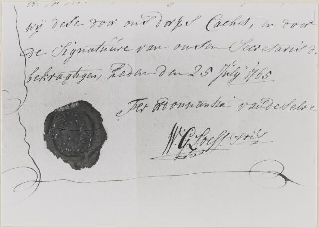058457 - Handtekening van W.G. Loeff, secretaris