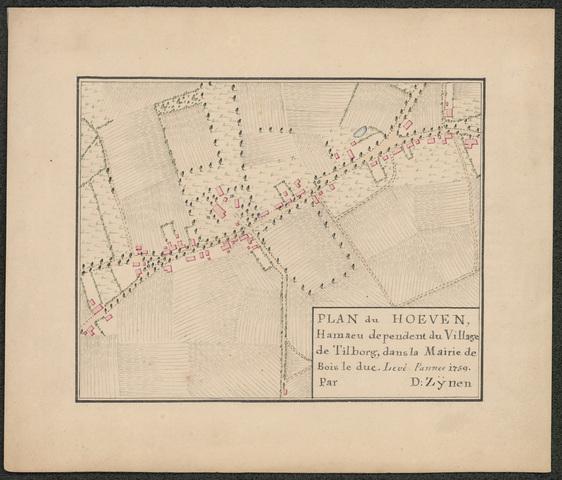 652500 - Fragment-kaart D. Zijnen. Hoeven