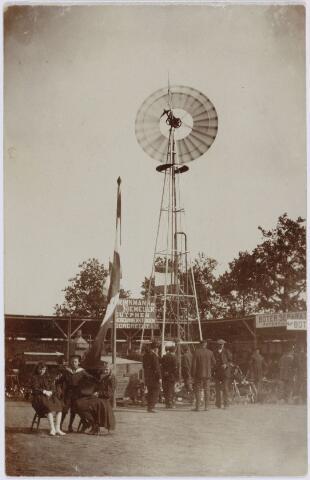 103840 - Tentoonstelling Stad Tilburg 1909 gehouden van 15 juli - 8 augustus 1909  Handel Nijverheid en Kunst. Het tentoonstelling-terrein was gelegen aan de 1e Herstalse Dwarsstraat (tussen Boomstraat en Industriestraat). Paviljoen 'Venetië'.
