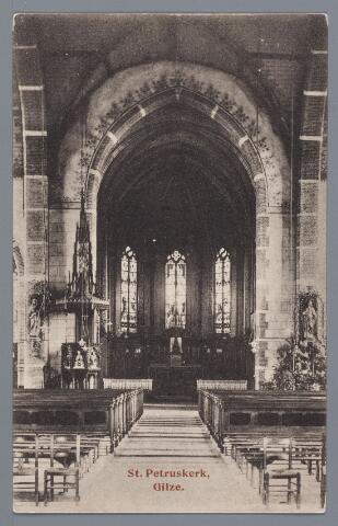 057880 - Gilze. St Petruskerk in 1920 voor de verbouwing in 1933.